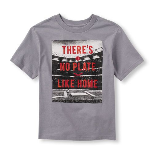 345e1693a8c Boys Boys Short Sleeve  There s No Place Like Home  Baseball Graphic Tee -  Gray T-Shirt - The Children s Place