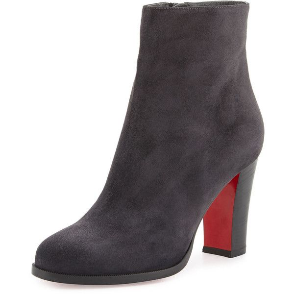 50d28cf3bafb4 Christian Louboutin Suede Red Sole Ankle Boot (18