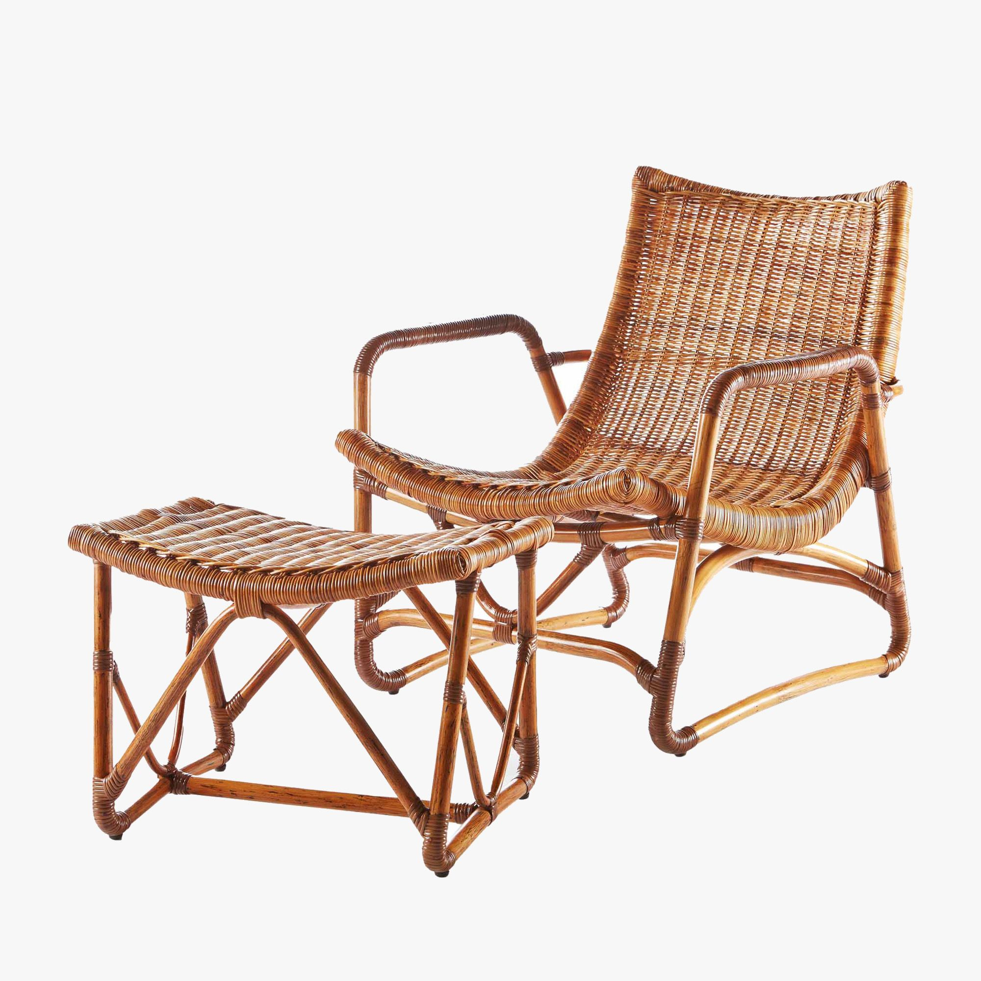 Wicker Lounge Chair Low Design