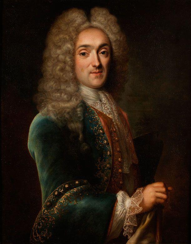 PORTRAIT VON NICOLAS MARYE, VICOMTE DE BLOSSEVILLE, 1683 - 1759 Öl auf Leinwand. 81 x 65 cm. Gerahmt. Robert Levrac-Tournières war ein Schüler von Bon...