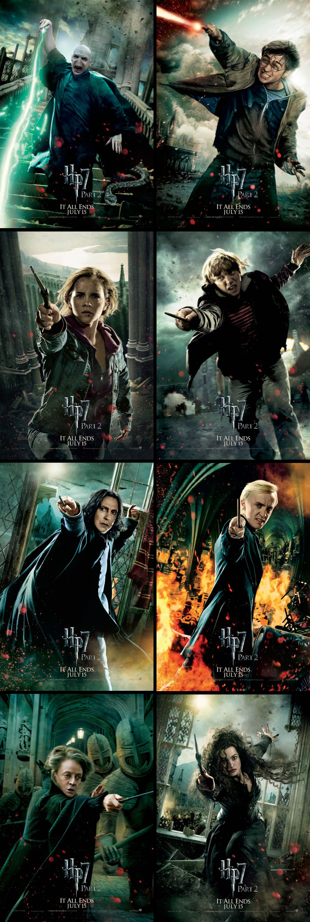 Action-packed teaser poster series from Harry Potter and the Deathly Hallows Part 2 (2011)