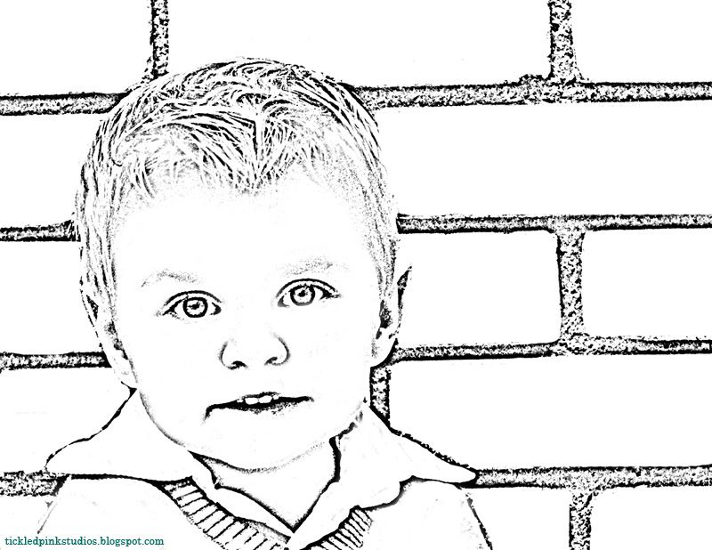 make coloring pages using photoshop | Make a personalized coloring book of friends and family ...