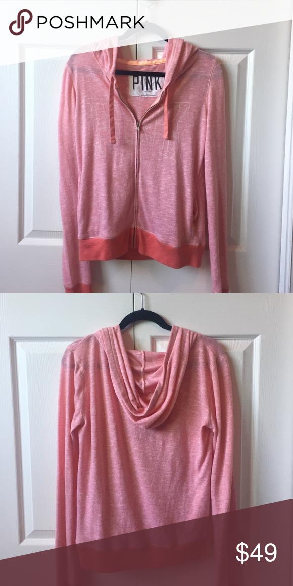 Victoria's Secret lightweight zip up Pink/peach zip up jacket Victoria's Secret Jackets & Coats