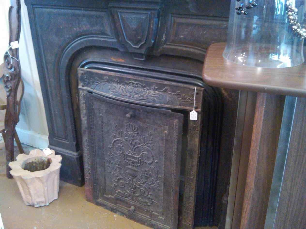Fireplace Cover Antique Old Cast The Antique Fireplace Summer Cover