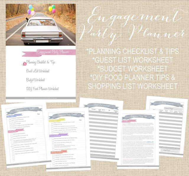 Free Engagement Party Planner Printable #rustiqueweddingdesigns - free party planner template