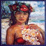 Flower Bearer | GEORGE FISHMAN MOSAICS | GEORGE FISHMAN