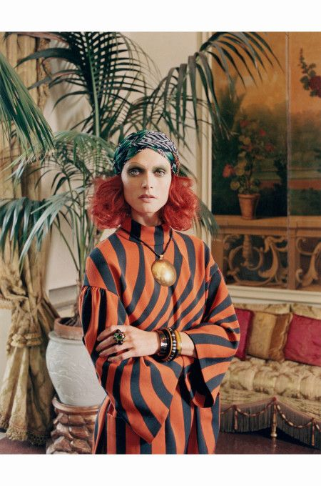 112d3ff796 Malgosia Bela %22Testa Rossa%22 Dries Van Noten dress Venetian Princess - W  Magazine