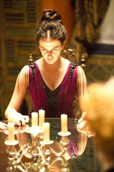 Penny Dreadful: A Seance with Vanessa Ives. This was my favorite scene, plus that purple dress was amazing!
