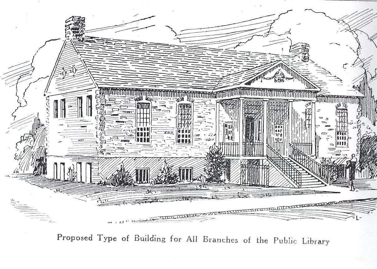 """vintagelibraries: """"  Providence Public Library, Proposed branch buildings, 1928 """""""