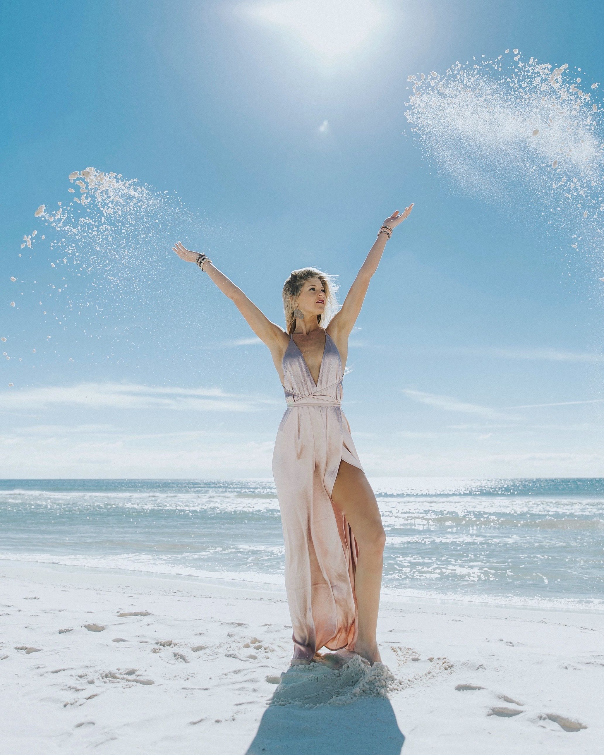 angel wings at the beach! #beach #angels #bloggerstyle #fashionblog #styleblogger #maxidress