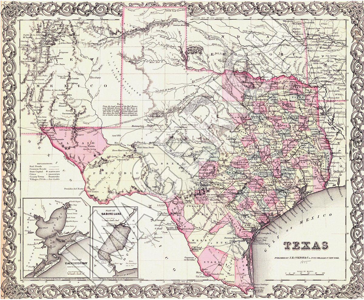 Frame Vintage Maps Of The States We Ve Lived In Together