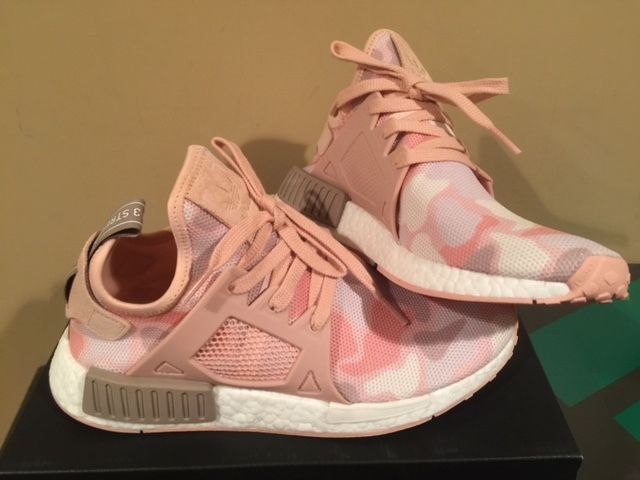finest selection 72422 31edc Adidas NMD XR1 W Pink Duck Camo White Womens XR_1 BA7753 ...