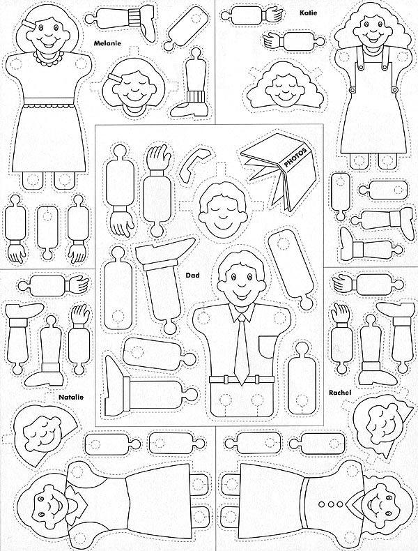 Family Prayer Paper Dolls | Juguetes para armar | Pinterest ...