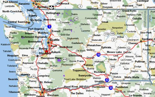Map Of Washington State With Cities Map of Washington State Cities and Towns | Cycling Maps For  Map Of Washington State With Cities