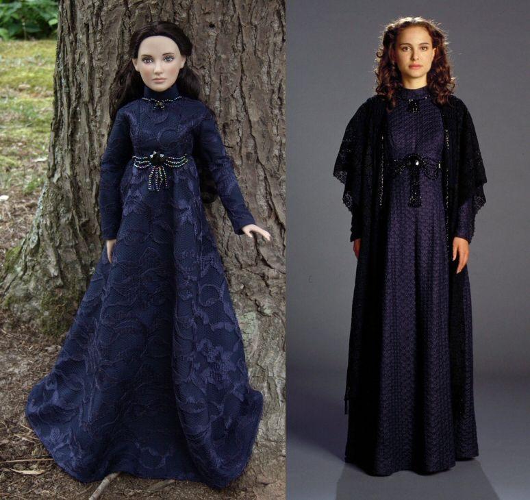 Padme Skywalker Navy Dress for Tonner Dolls from \