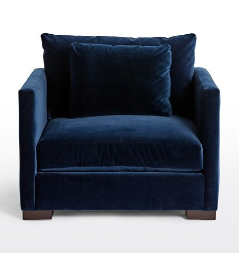 Best Wrenton Chair And A Half In 2020 Blue Velvet Chairs 640 x 480