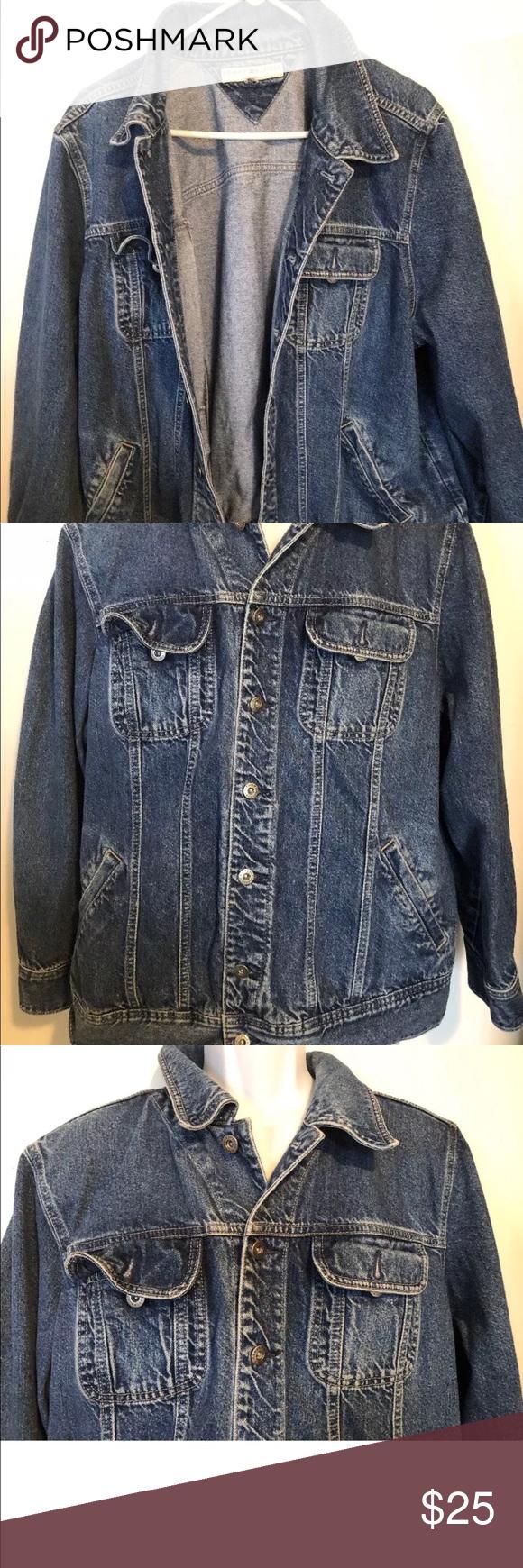 Tommy Hilfiger Womens 2X Denim jean jacket Blue You are