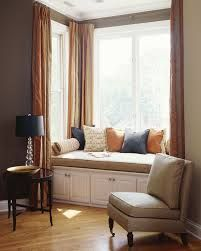 Window Seat In Square Bay With File Cabinet Storage Built In