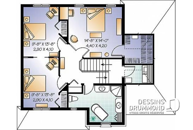 Plan de maison unifamiliale Pivoine No 3871 in 2018 Bunglo house