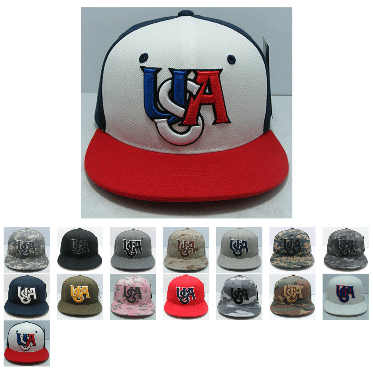 The Wholesale Usa America Snapback Flat Bill Hat S019 Features 3 D High Definition Embroidery A Retro Flat Bill Cotton Sweatba Flat Bill Hats Snapback Hats