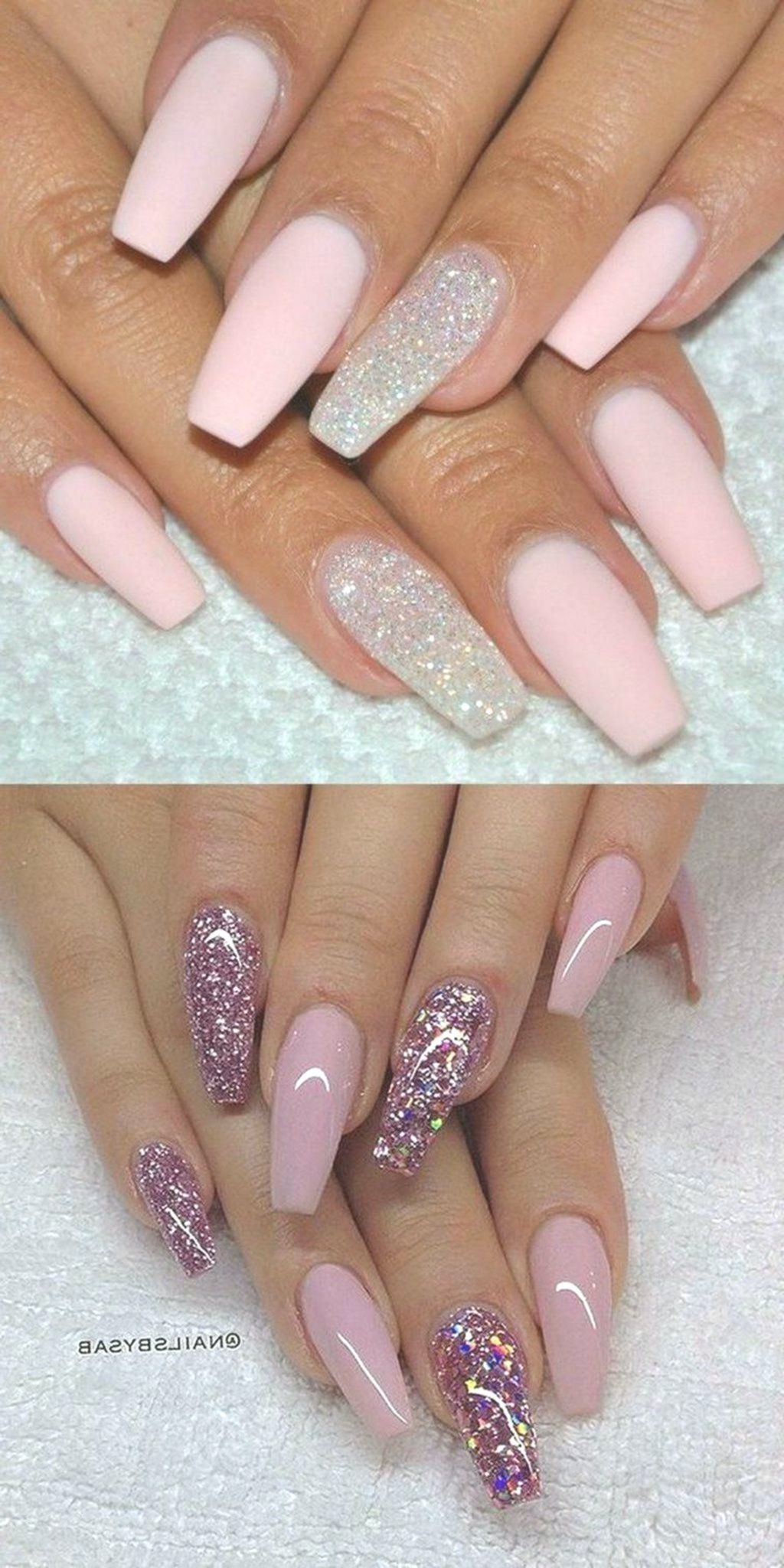 Acrylic Nails Designs Valentines Day Beautiful Provocative And Long Nails Are The Dream Of Many Wom Sparkly Nails Sparkly Nail Designs Pretty Nail Art Designs