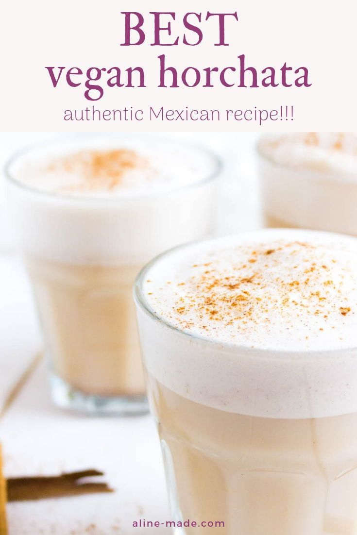 Vegan Horchata A recipe for an authentic homemade Mexican horchata. This vegan horchata is made with almond milk and therefore dairy free. Make this authentic Mexican drink at home for a delicious refreshment.