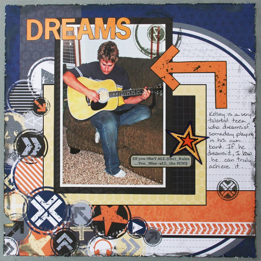 Dreams- 12x12 layout- *KaiserCraft products*