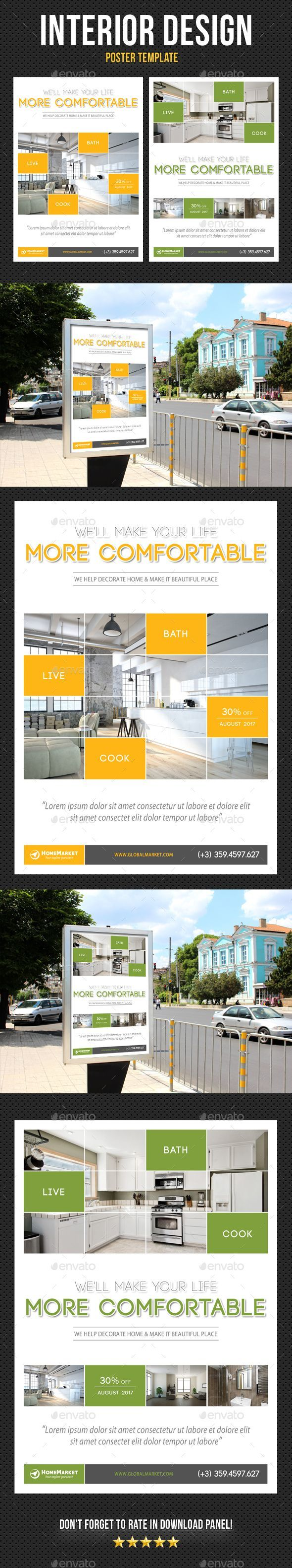 Interior Design Poster Template V11 - Signage Print Templates - Graphic Templates
