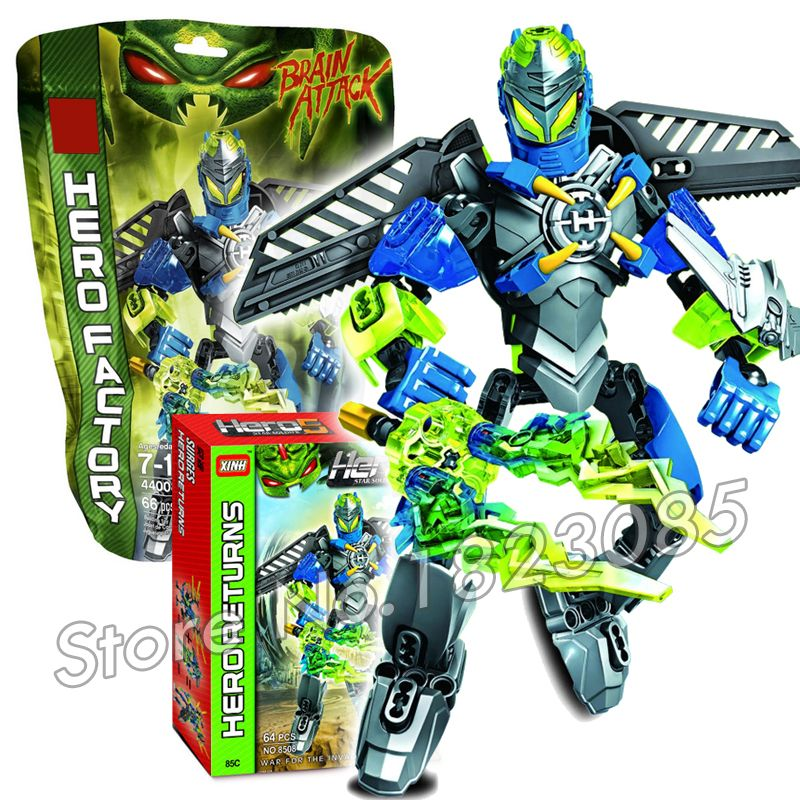Click To Buy 64pcs Bela New Hero Factory Brain Attack Surge Model