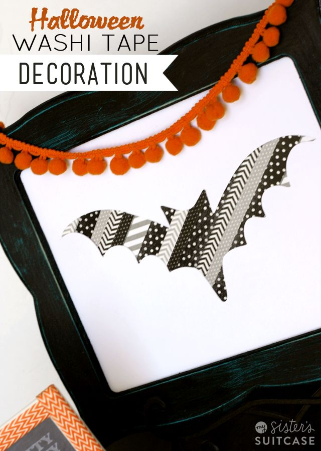 Use washi tape to make a simple Halloween decoration! Great kids - halloween decorations to make at home for kids