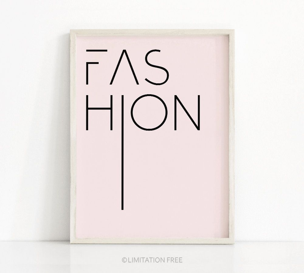 Digital Download Print Pink Fashion Print Pink Wall Art Etsy Pink Wall Art Etsy Wall Art Digital Wall Art