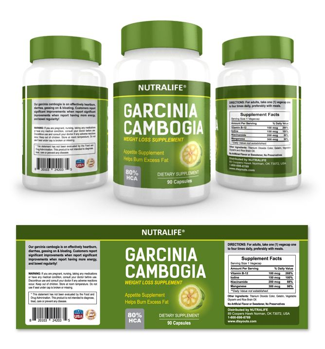 Garcinia Cambogia Extract Supplement Label Template HttpWww