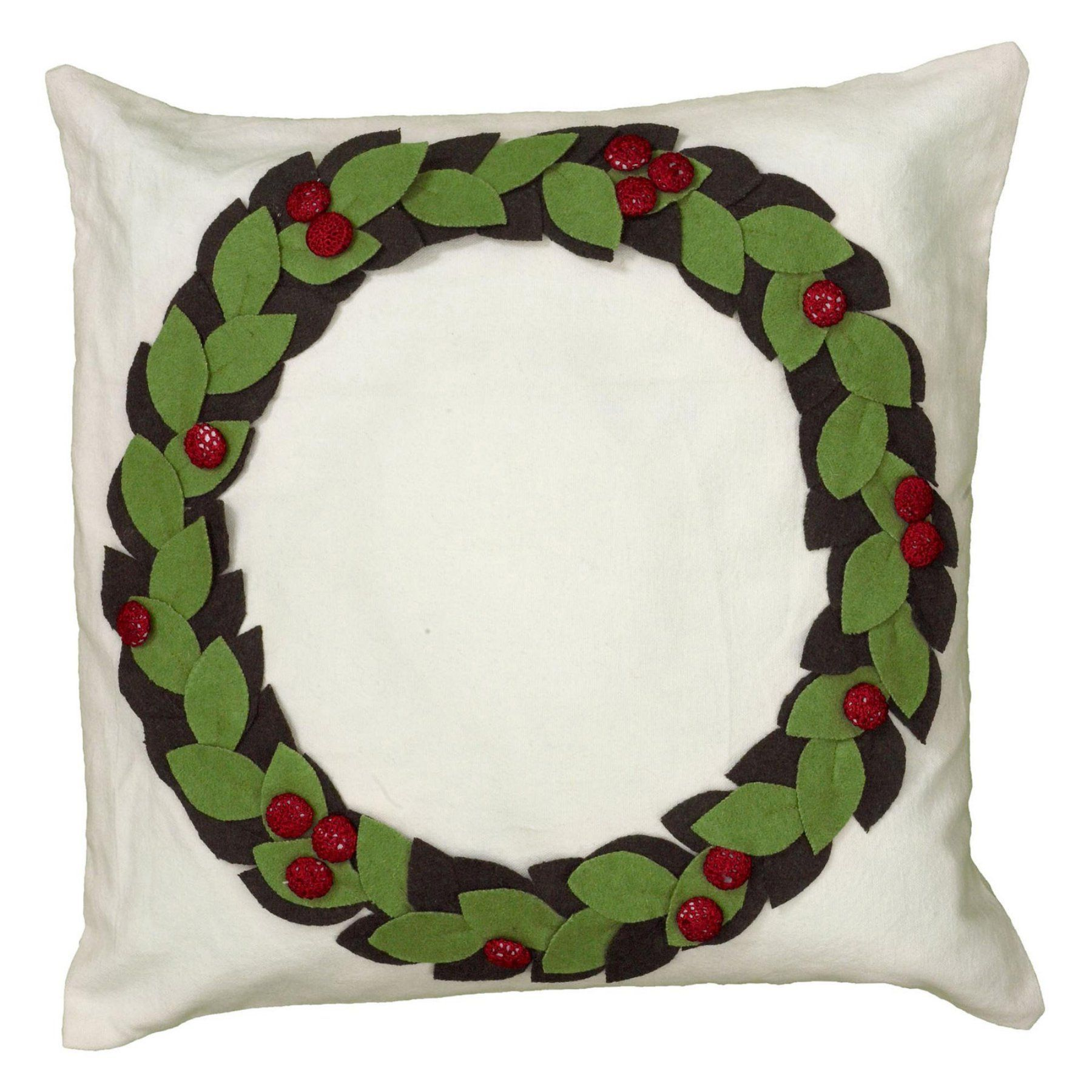 Rizzy Home Applique and Embroidery Details with Hand Sewn Buttons Decorative Throw Pillow