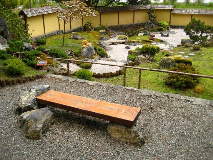 bench stones zen garden japanese garden pinterest bench stone and gardens. Black Bedroom Furniture Sets. Home Design Ideas