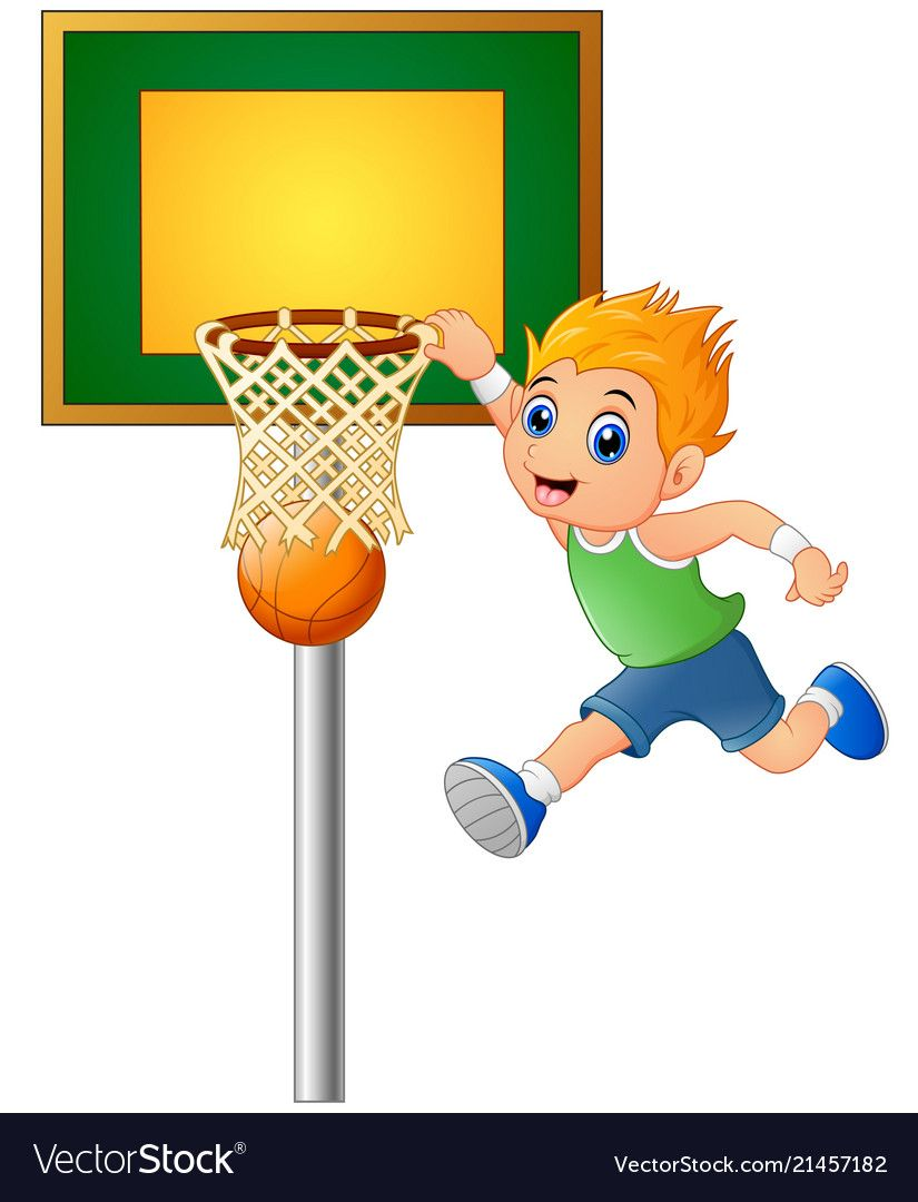 Cartoon Boy Playing Basketball Vector Image On Vectorstock Cartoon Boy Boys Playing Cartoon
