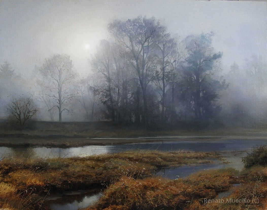 Renato Muccillo |Early November at Dawn. Oil on Linen.