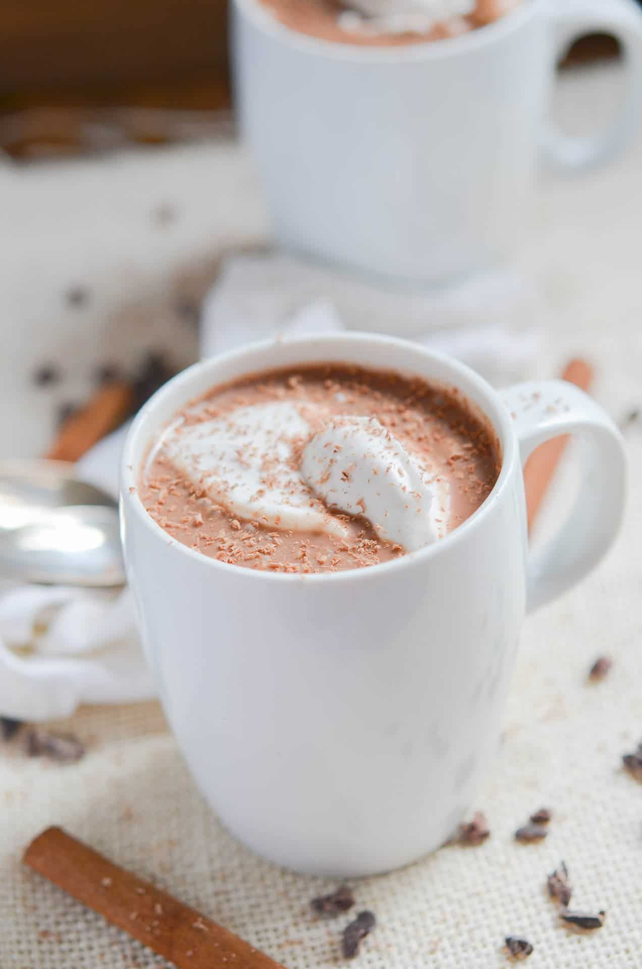 How to make Dairy-Free Hot Chocolate that is creamy and delicious ...