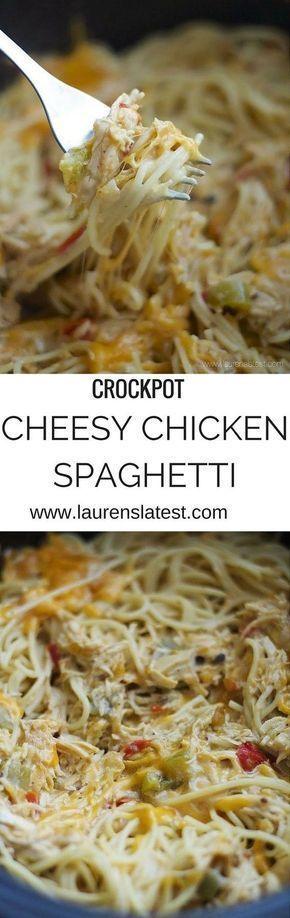 Crockpot Chicken Spaghetti Recipe Chicken Spaghetti Recipes Crockpot Dishes Food Recipes