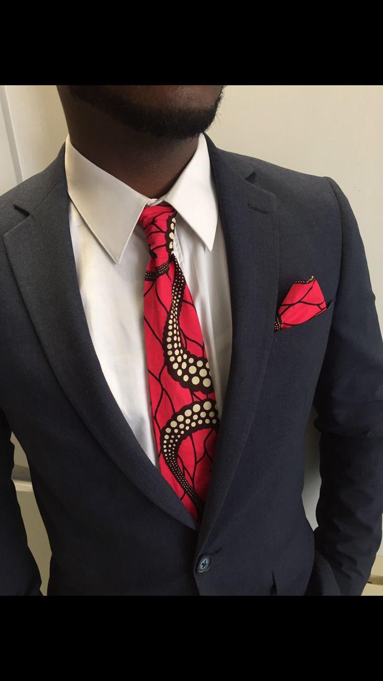 fe446b994e882 Cravate, tissu wax, rouge, accessoire costume Homme | Awuwo ...