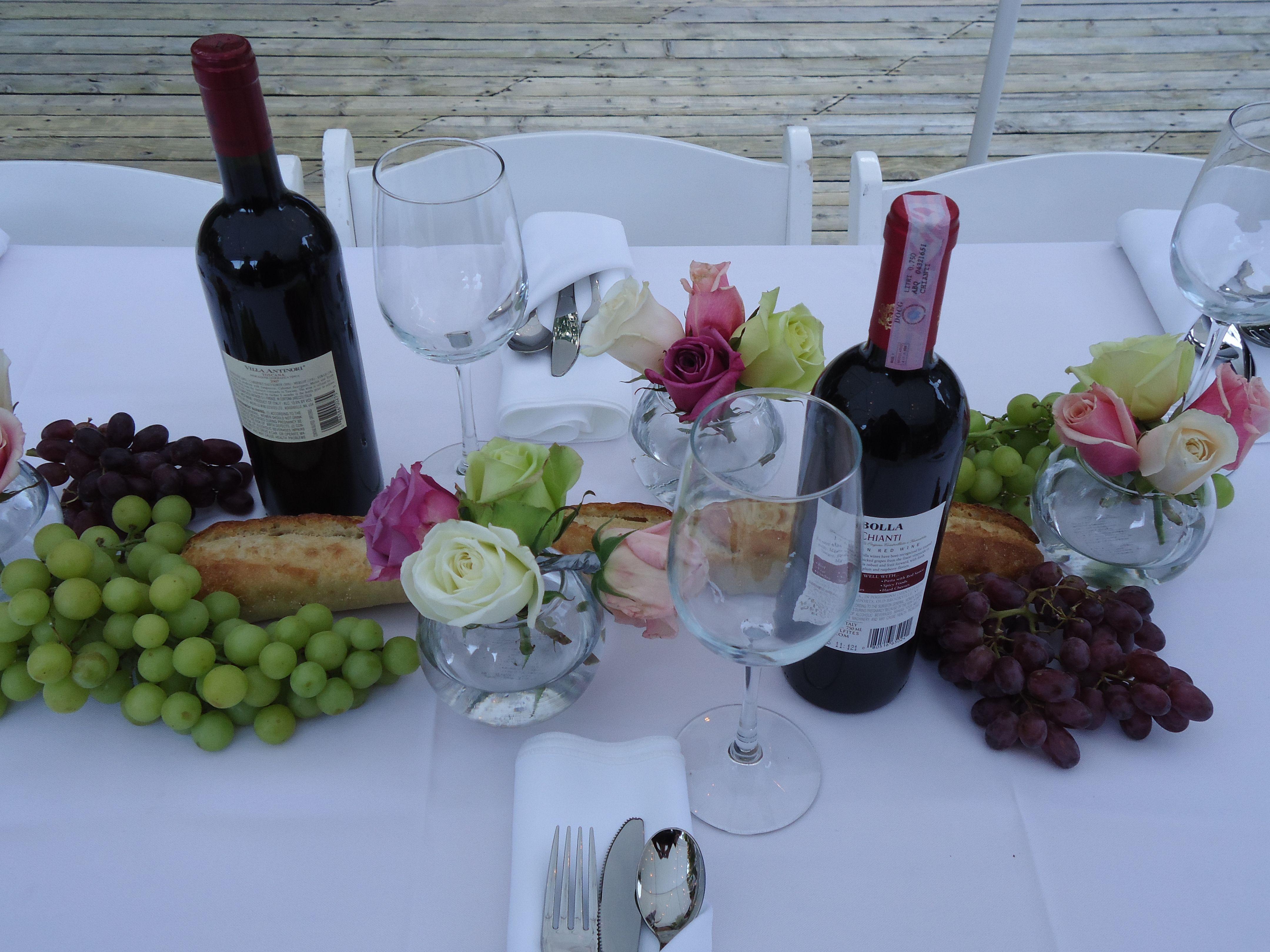 Italian dinner centerpiece | Autumn Alfresco Dinner Party ...