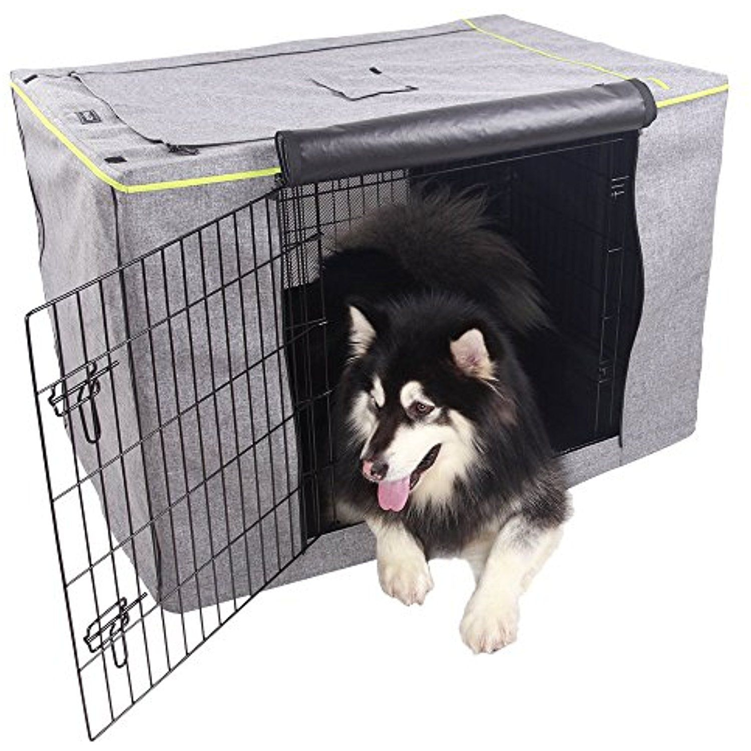 Petsfit Extra Side Door For 5000 Crate Polyester Crate Cover For 42 Inches Wire Crates Two Doors For More I Dog Crate Cover Large Dog Crate Dog Kennel Cover
