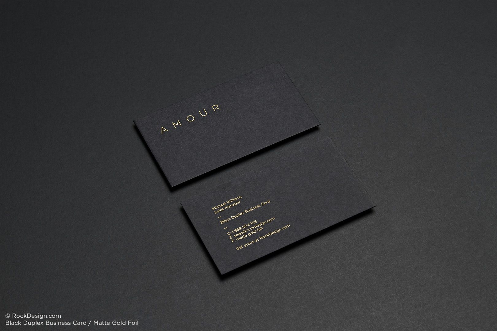 Black Business Cards | RockDesign Luxury Business Card Printing ...