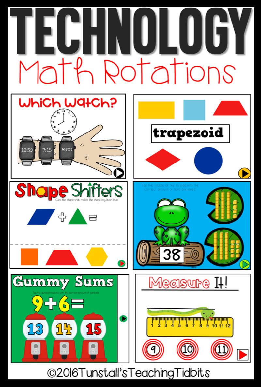 Math Games for Technology | school things | Kindergarten