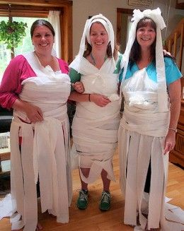 Toilet paper wedding dress game with a twist