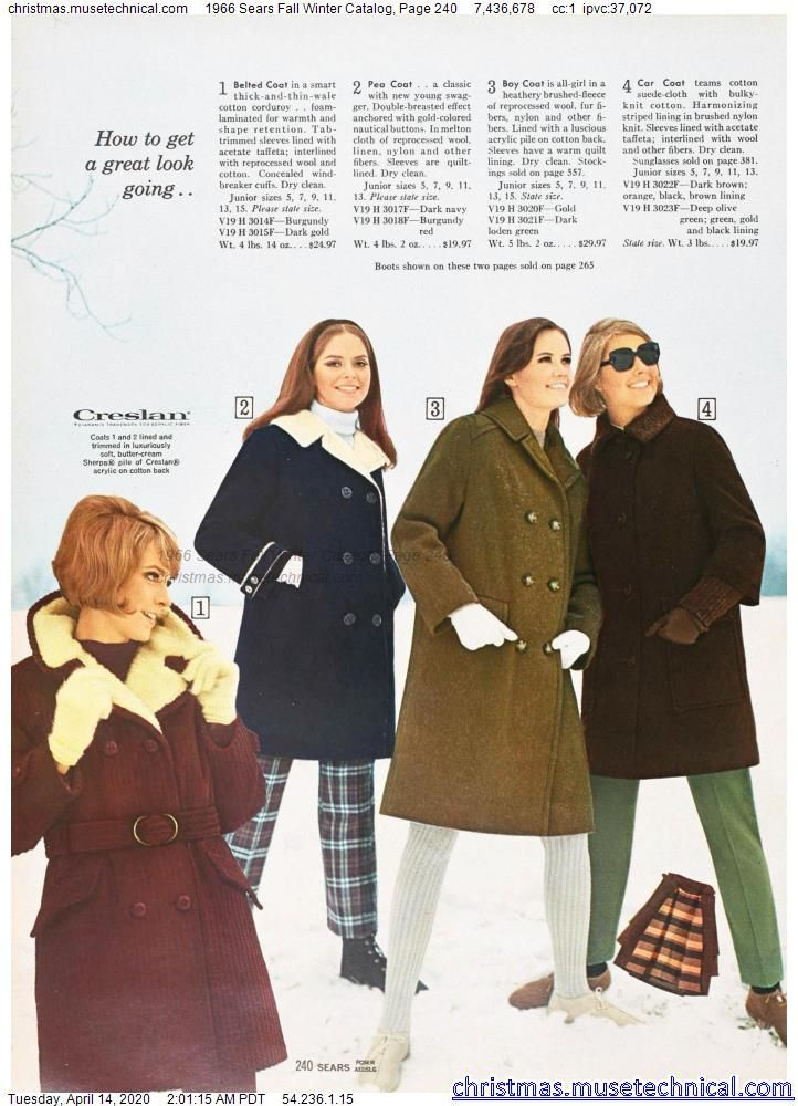 1966 Sears Fall Winter Catalog, Page 240 - Christm