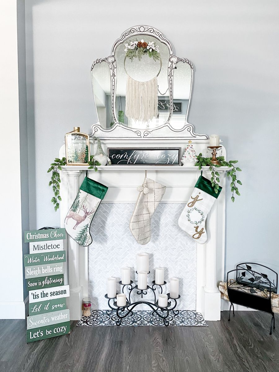 Decorating this year with some beautiful green tones for my pop of color, with lots of boho vibes. Made this metal hoop boho christmas wreath myself and a larger one for under $20 for both. #christmasdecor #christmasmantel #greenchristmas #bohodiywreath #diychristmaswreaths #christmasstyle #neutralchristmas #bohochristmasdecor #christmastreeshops @CTSandThat
