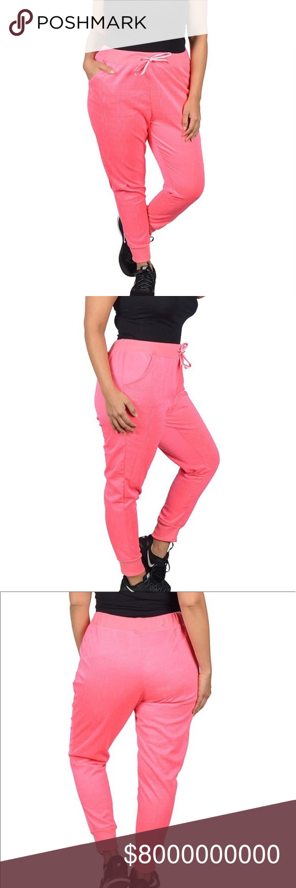 7e04540065bd7 ✅HP ➕🆕 (2X) Plus Size Hot Pink Love Joggers Boutique in 2018