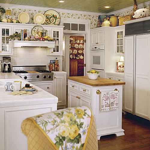 Cottage Kitchen Design Entrancing In Addition Cottage Kitchens Also Utilize Open Dish Display Decorating Inspiration