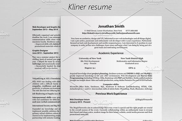 Kliner u2022 Simple professional resume by Dragoș Neagu on - wall street resume template