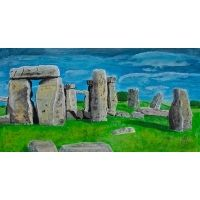 "Gemälde Acryl auf Karton ""Stonehenge"" - Dekoration | Leihdirwas.de"